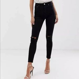 ASOS Ridley high waisted skinny jeans ripped 28X34